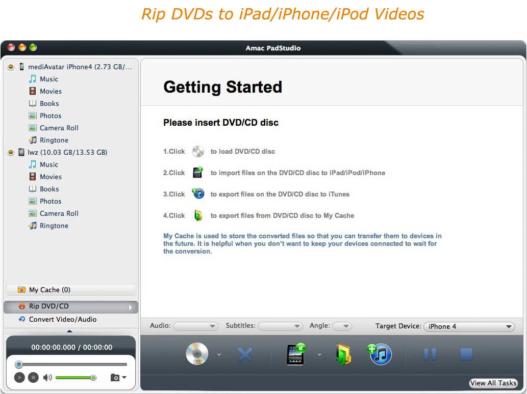 Video Software, Amac PadStudio Screenshot
