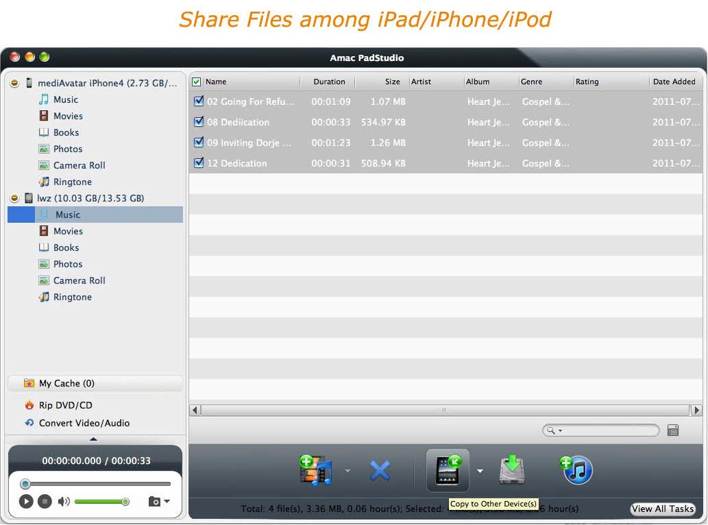 Amac PadStudio, Video Software Screenshot