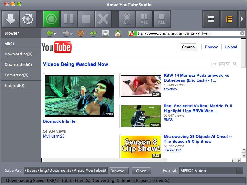 Amac YouTubeStudio Screenshot