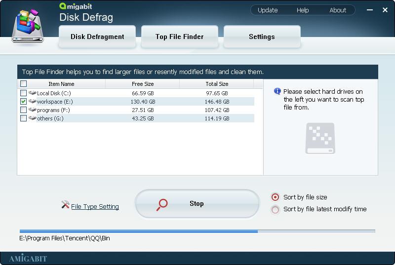 Amigabit Disk Defrag, Software Utilities Screenshot