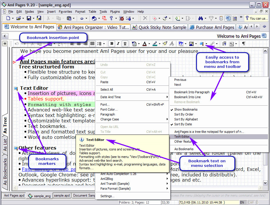 Aml Pages Home License, Productivity Software Screenshot