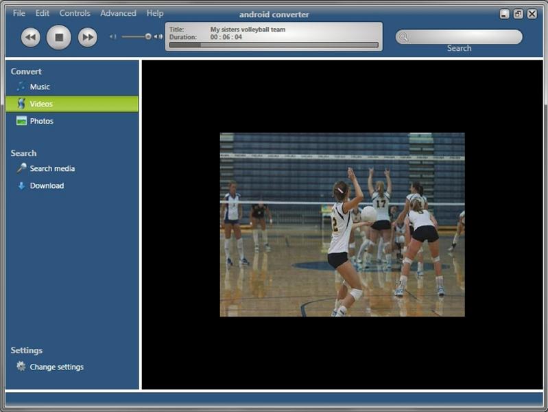 Android Converter, Video Converter Software Screenshot