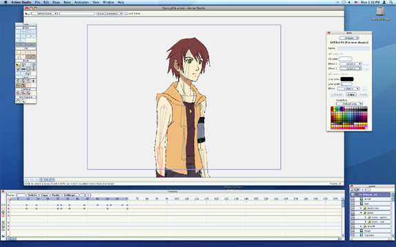 Anime Studio 5 Screenshot Animation Software