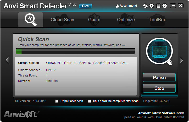Anvi Smart Defender Screenshot
