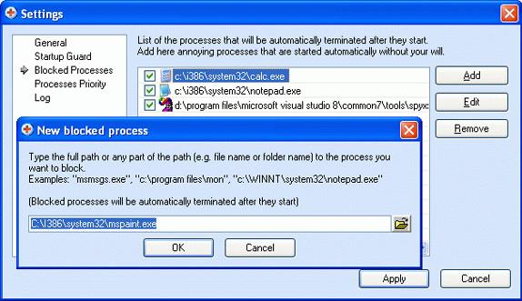 AnVir Task Manager Pro, Desktop Customization Software Screenshot