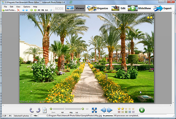 Artensoft Photo Editor Screenshot