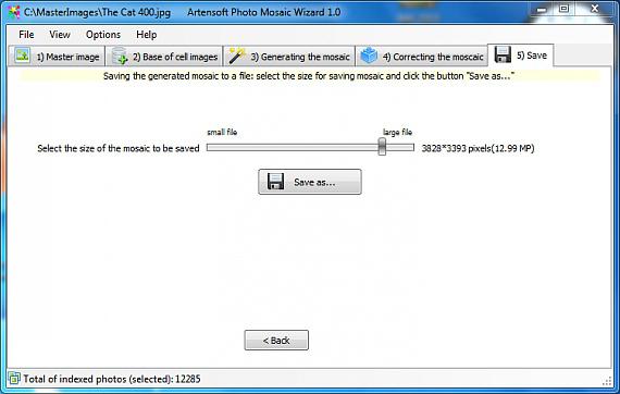 Artensoft Photo Mosaic Wizard Screenshot 8
