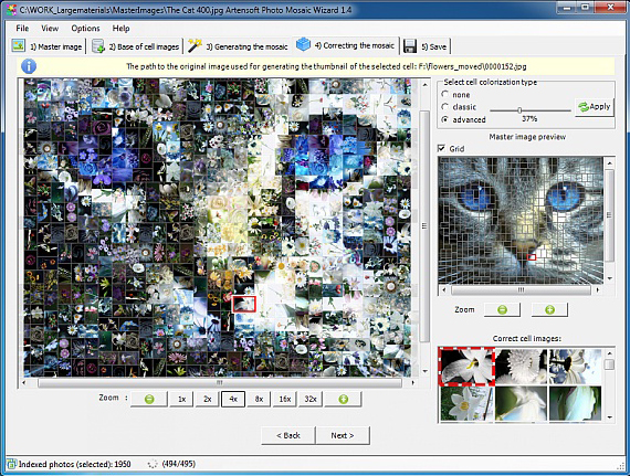 Artensoft Photo Mosaic Wizard, Design, Photo & Graphics Software Screenshot