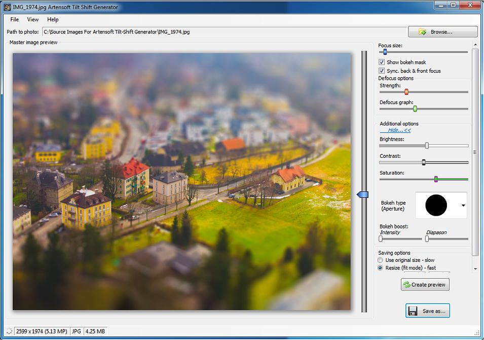 Artensoft tilt shift generator photo editing software for pc photo editing software artensoft tilt shift generator screenshot fandeluxe Images