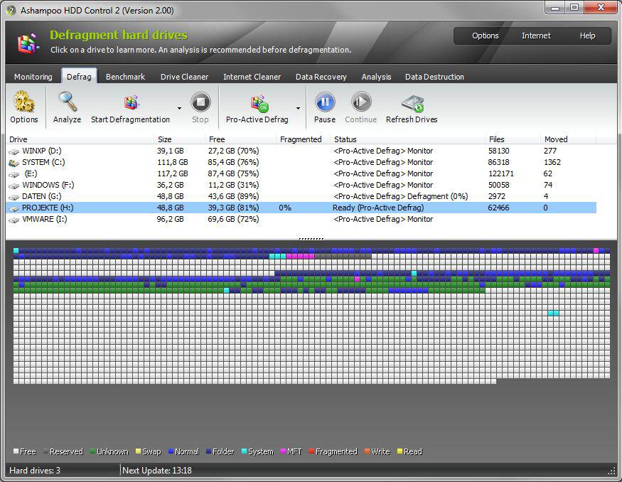 Ashampoo HDD Control, Software Utilities Screenshot