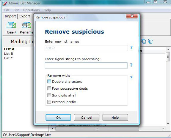 Atomic List Manager Screenshot 10