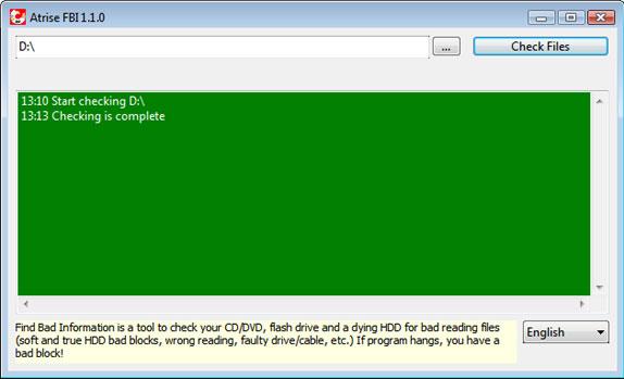 Atrise FBI Personal, Hard Drive Software Screenshot