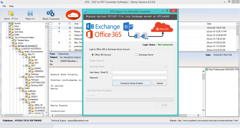 Software Utilities, ATS OST to PST Converter Screenshot