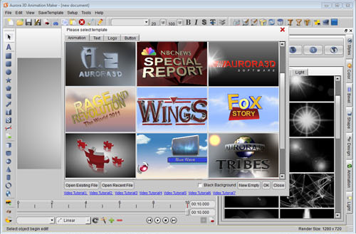 Aurora 3D Text & Logo Maker (free version) download for PC