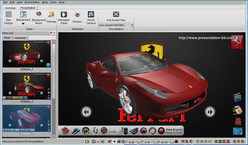 Presentation Software Screenshot