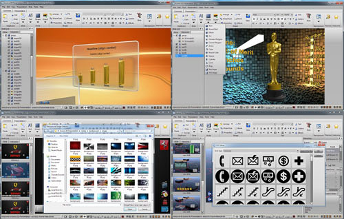 Aurora 3D Presentation, Business & Finance Software Screenshot