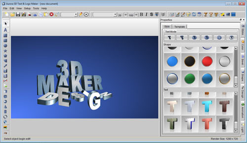 Aurora 3D Text & Logo Maker Screenshot