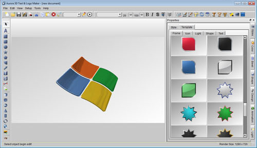 Graphic Design Software, Aurora 3D Text & Logo Maker Screenshot