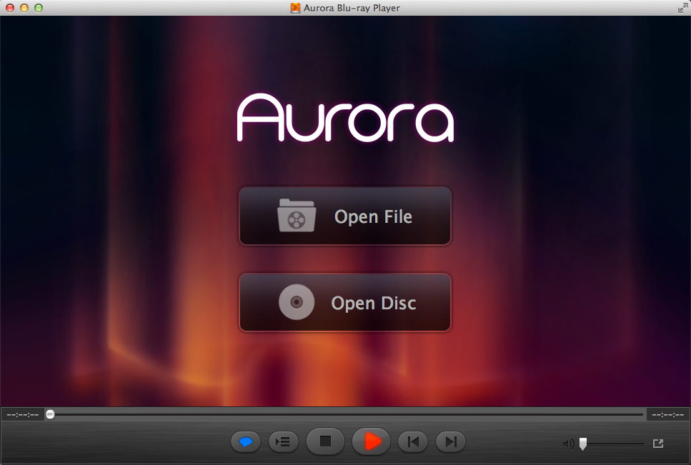 Aurora Blu-ray Player for Mac Screenshot