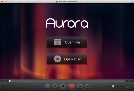 Aurora Blu-ray Player Screenshot