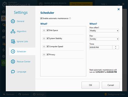 PC Optimization Software, Auslogics BoostSpeed Screenshot