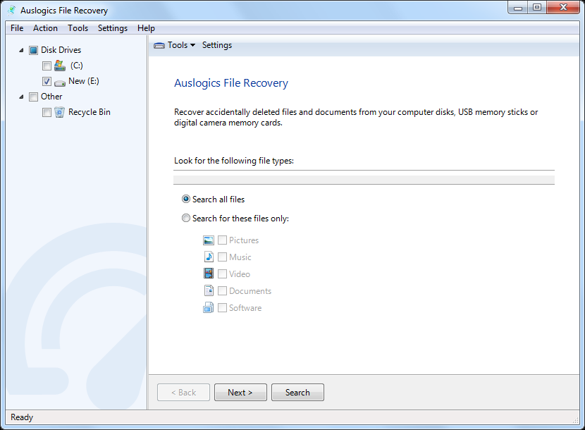 Auslogics FileRecovery Screenshot