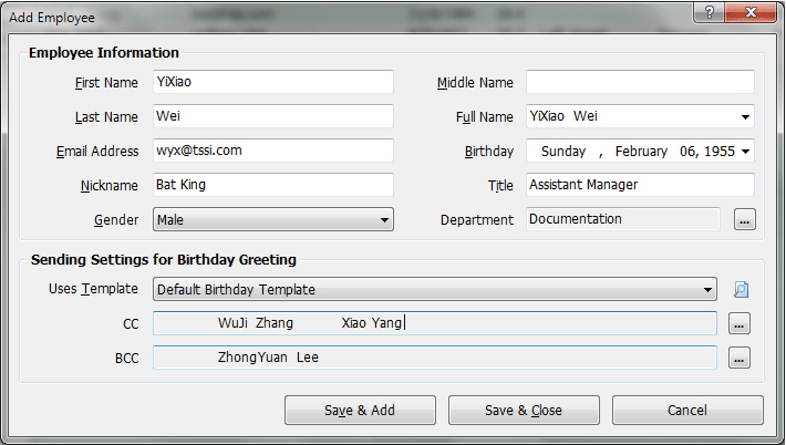 Auto Mail Sender Birthday Edition Screenshot 8