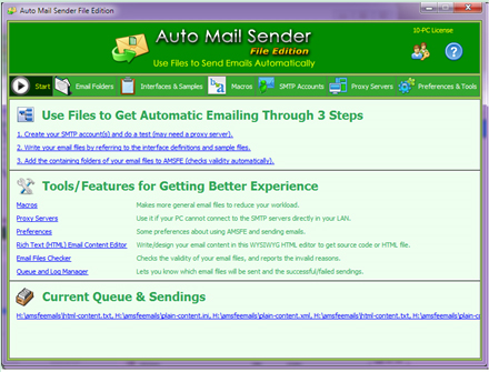 Auto Mail Sender File Edition Screenshot