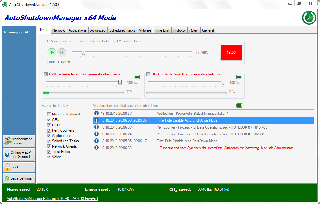 Auto Shutdown Manager Screenshot