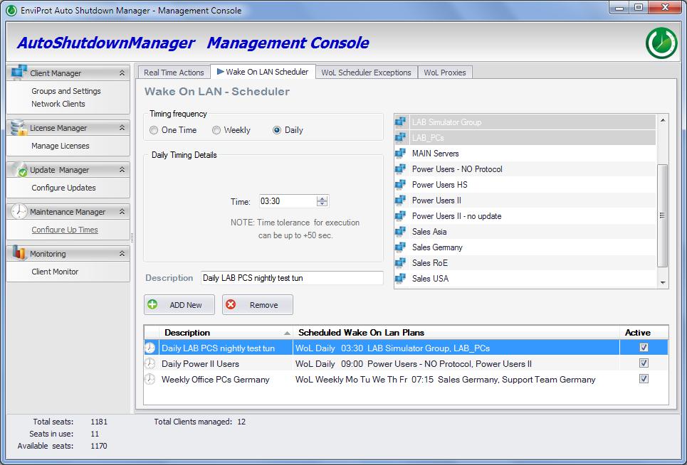 Auto Shutdown Manager, Software Utilities Screenshot