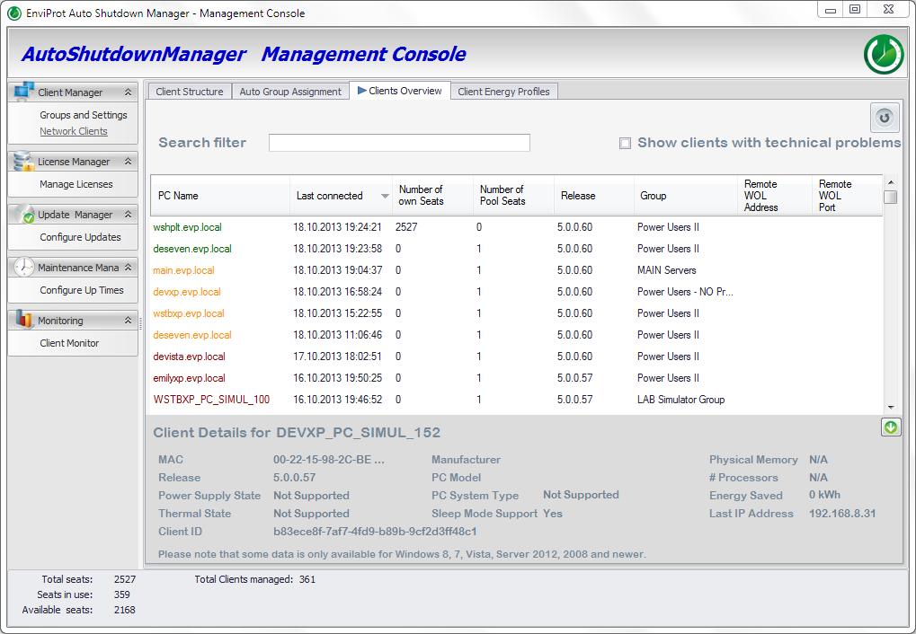 Auto Shutdown Manager, Auto Shutdown Software Screenshot