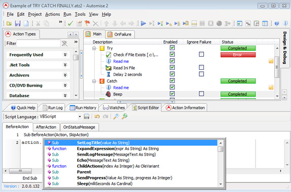 Automise Lite, Productivity Software, Macros Software Screenshot