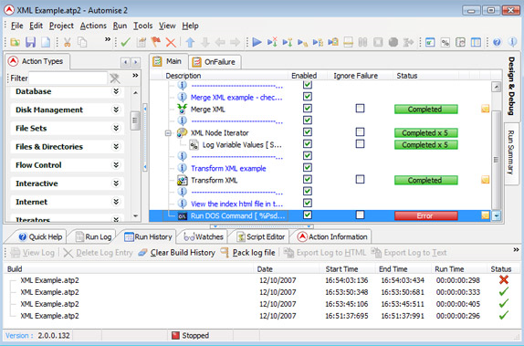 Automise Lite, Macros Software Screenshot