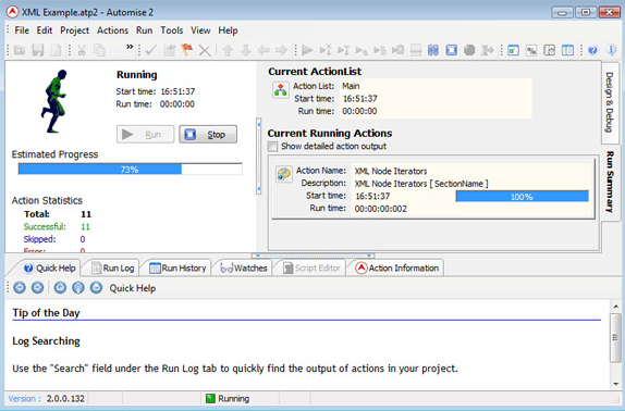 Productivity Software, Automise Lite Screenshot