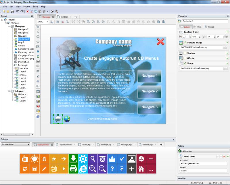 Autoplay Menu Designer Business License, Presentation Software Screenshot