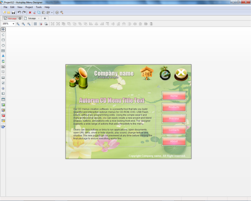 Create autorun disc menus for your CDs and DVDs