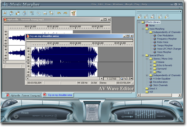 AV Music Morpher, Audio Software Screenshot