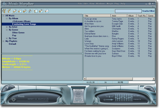AV Music Morpher, Audio Software, Audio Conversion Software Screenshot