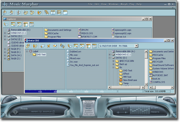 Audio Software, AV Music Morpher Screenshot