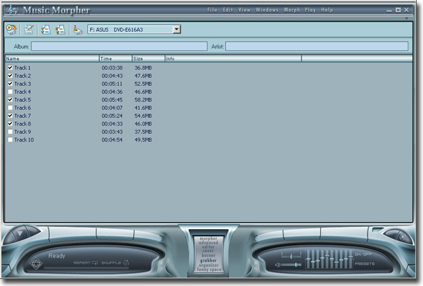 Audio Conversion Software, AV Music Morpher Screenshot