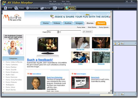 Video Editing Software, AV Video Morpher Screenshot