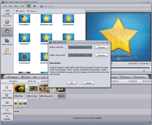 AVCLabs Any Video Editor, Video Editing Software Screenshot