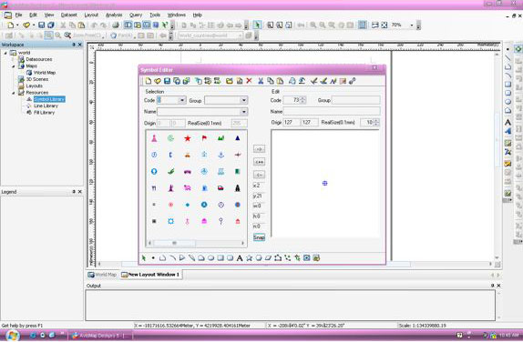 AvisMap Deskpro, Vector Drawing Software Screenshot