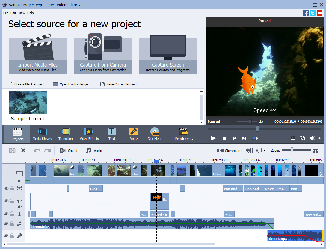 AVS4YOU Video Editor + 11 multimedia titles FREE Screenshot