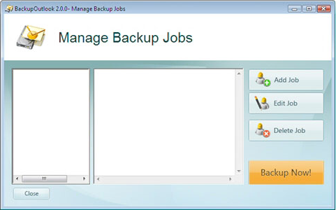 BackupOutlook Screenshot