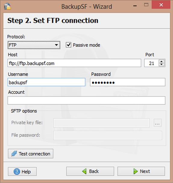 BackupSF Basic Screenshot