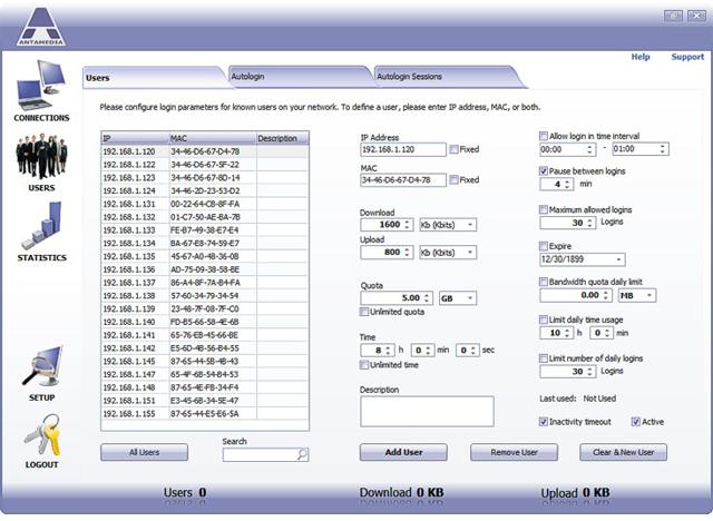 Internet Software, Bandwidth Manager Screenshot