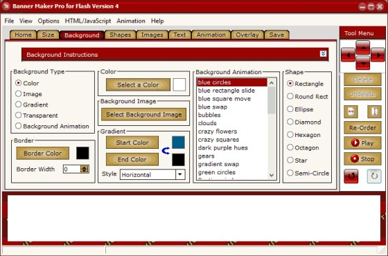 Banner Maker Pro for Flash Screenshot