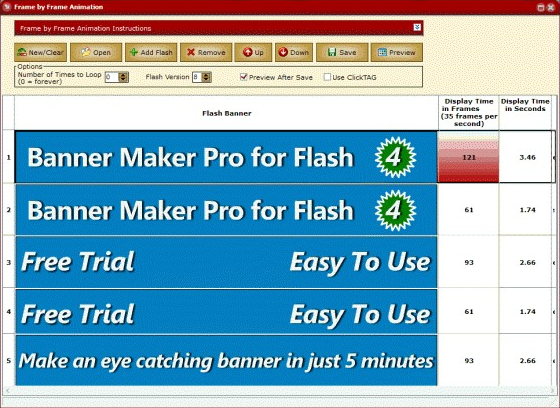 Banner Maker Pro for Flash - Flash Software - 25% off for PC