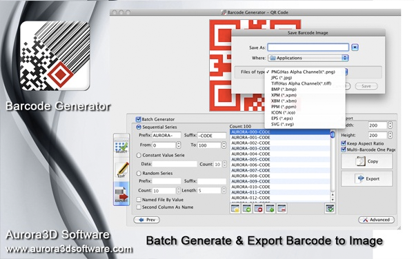 Barcode Generator, Barcode Software Screenshot